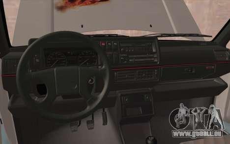 Volkswagen Golf 2 pour GTA San Andreas vue intérieure