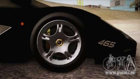 McLaren F1 Police Edition pour GTA San Andreas vue de droite