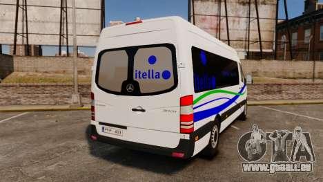 Mercedes-Benz Sprinter Itella Logistics für GTA 4 hinten links Ansicht