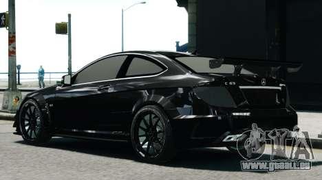 Mercedes-Benz C63 AMG Black Series 2012 für GTA 4 linke Ansicht