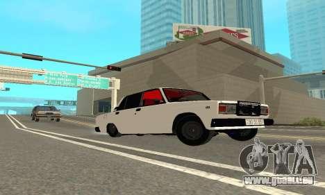 VAZ 2107 Avtosh pour GTA San Andreas vue de droite