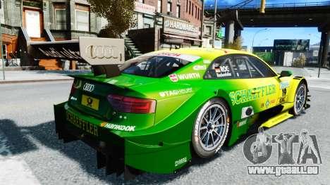 Audi RS5 DTM für GTA 4 hinten links Ansicht