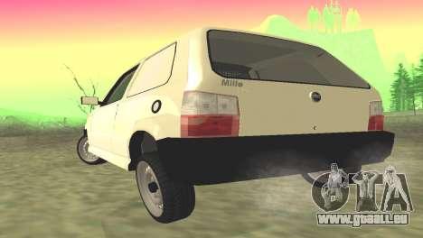 Fiat Uno Fire Cargo pour GTA San Andreas sur la vue arrière gauche