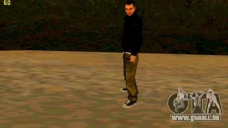 Die neue textur Claude für GTA San Andreas dritten Screenshot