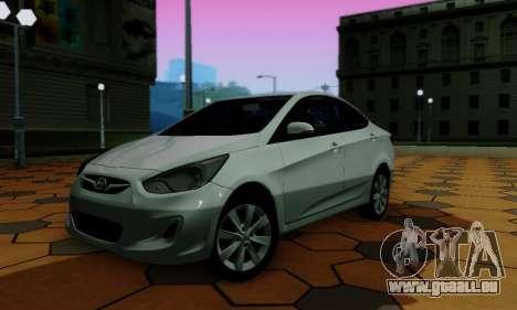 Hyndai Solaris für GTA San Andreas Seitenansicht