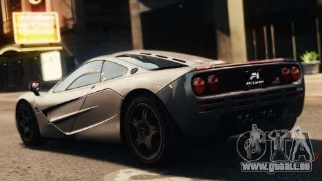 McLaren F1 XP5 für GTA 4 linke Ansicht