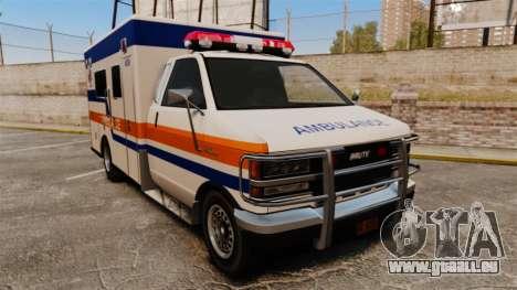 Brute CHMC Ambulance pour GTA 4