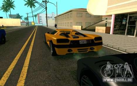 GTA V Entity XF pour GTA San Andreas sur la vue arrière gauche