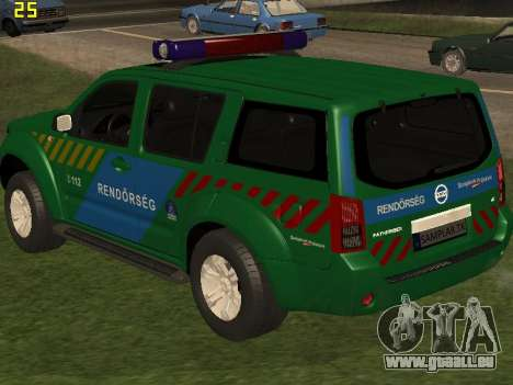 Nissan Pathfinder Police pour GTA San Andreas salon