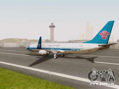 China Southern Airlines Boeing 737-800 für GTA San Andreas rechten Ansicht