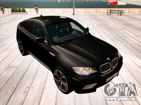 BMW X6M 2010 pour GTA San Andreas roue