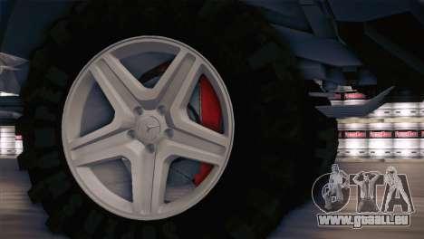 Mercedes-Benz G63 AMG 6X6 für GTA San Andreas Rückansicht