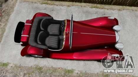 Jaguar SS100 für GTA 4 rechte Ansicht