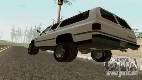 Chevrolet Suburban 2500 1986 pour GTA San Andreas vue de droite