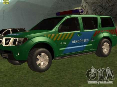 Nissan Pathfinder Police pour GTA San Andreas vue de dessus