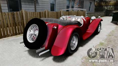Jaguar SS100 pour GTA 4 Vue arrière de la gauche