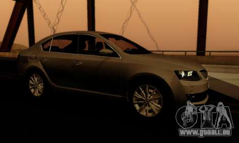 Skoda Octavia A7 für GTA San Andreas Unteransicht
