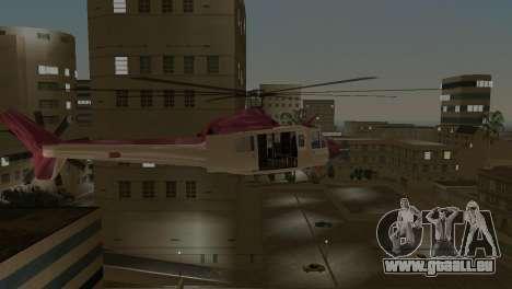 Bell HH-1D pour GTA Vice City vue arrière