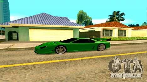 Nouveau Turismo pour GTA San Andreas laissé vue