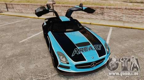 Mercedes-Benz SLS 2014 AMG Black Series Area 27 für GTA 4 obere Ansicht