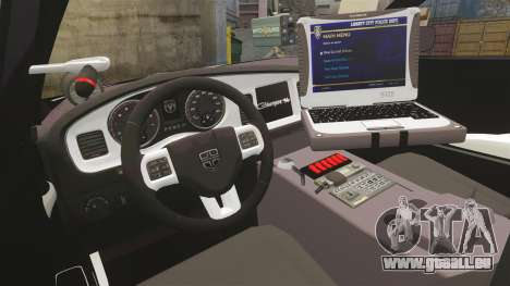 Dodge Charger 2013 LCSO [ELS] für GTA 4 Rückansicht