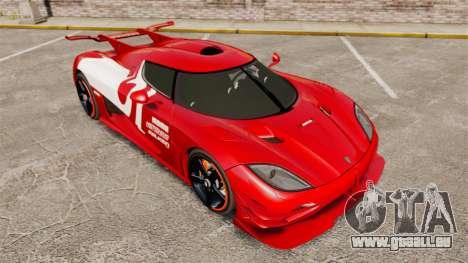 Koenigsegg One:1 für GTA 4 obere Ansicht