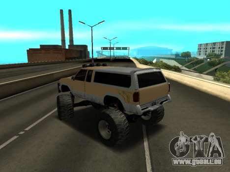 Nouveau Monstre pour GTA San Andreas sur la vue arrière gauche