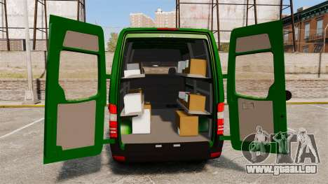 Mercedes-Benz Sprinter 2500 2011 Hungarian Post für GTA 4 obere Ansicht