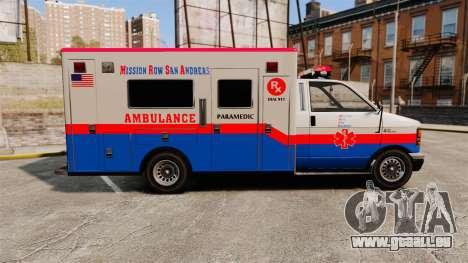 Brute MRSA Paramedic für GTA 4 linke Ansicht