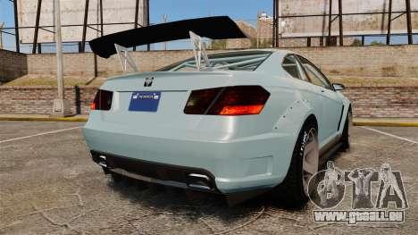 GTA V Benefactor Schwartzer pour GTA 4 Vue arrière de la gauche