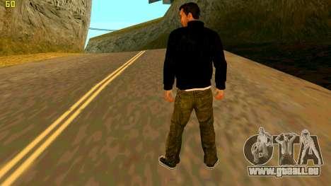 Die neue textur Claude für GTA San Andreas zweiten Screenshot