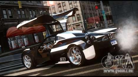 Pagani Huayra Police v1.1 für GTA 4 linke Ansicht