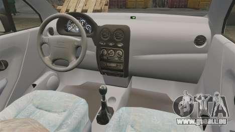 Daewoo Matiz SE 1998 für GTA 4 Rückansicht