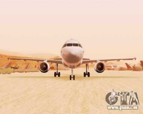 Airbus A320-200 Ural Airlines für GTA San Andreas zurück linke Ansicht