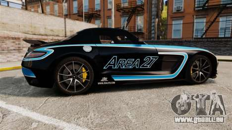 Mercedes-Benz SLS 2014 AMG Black Series Area 27 für GTA 4 linke Ansicht