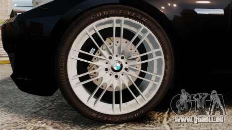 BMW M5 F10 2012 Japanese Unmarked Police [ELS] pour GTA 4 Vue arrière