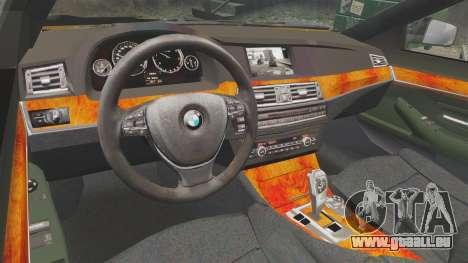 BMW M5 F10 2012 Japanese Unmarked Police [ELS] pour GTA 4 est une vue de l'intérieur