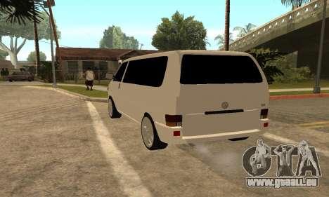 Volkswagen T4 Transporter für GTA San Andreas zurück linke Ansicht