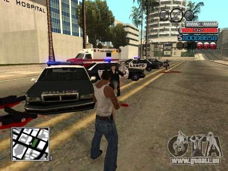Die neue C-HUD für GTA San Andreas fünften Screenshot