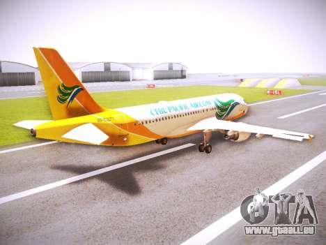 Airbus A320 Cebu Pacific Air für GTA San Andreas rechten Ansicht