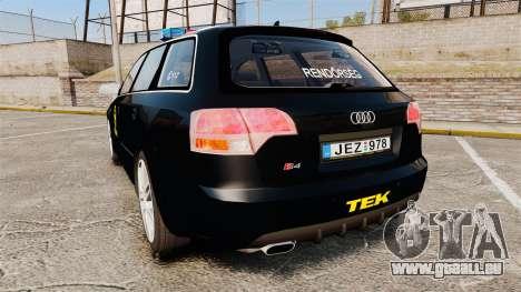 Audi S4 Avant TEK [ELS] pour GTA 4 Vue arrière de la gauche