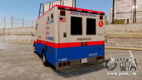Brute MRSA Paramedic pour GTA 4 Vue arrière de la gauche