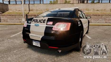 Ford Taurus LCPD Interceptor 2011 [ELS] für GTA 4 hinten links Ansicht