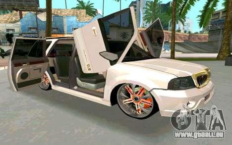 Lincoln Navigator DUB Edition pour GTA San Andreas vue de droite