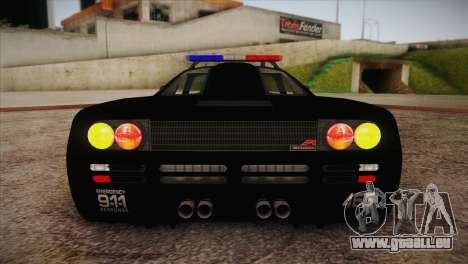 McLaren F1 Police Edition pour GTA San Andreas vue de côté