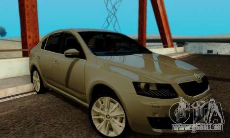 Skoda Octavia A7 für GTA San Andreas obere Ansicht