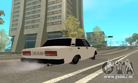 VAZ 2107 Avtosh pour GTA San Andreas vue arrière