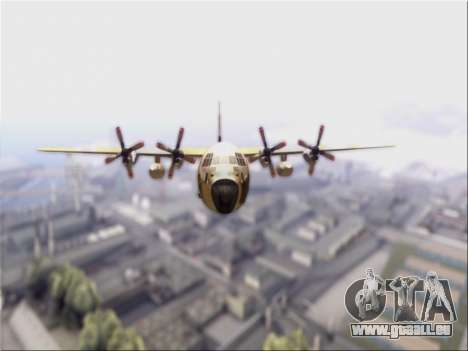 C-130 Hercules Royal Moroccan Air Force für GTA San Andreas linke Ansicht