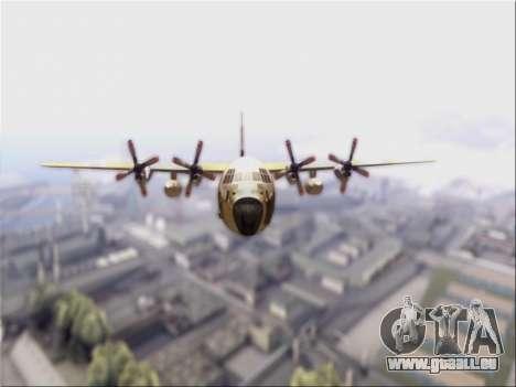 C-130 Hercules Royal Moroccan Air Force für GTA San Andreas linke Ansicht