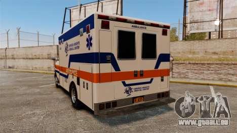 Brute CHMC Ambulance pour GTA 4 Vue arrière de la gauche